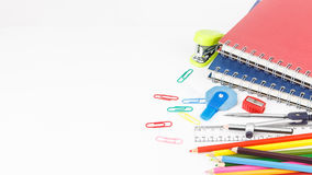 Set of stationery tool Stock Images