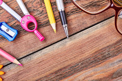 Set of stationery tools. Stock Image