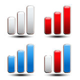 Set of statistic graph - symbol, icon Royalty Free Stock Photos