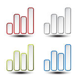 Set of statistic graph - symbol, icon Royalty Free Stock Photo