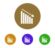 Set of statistical icon illustrated Royalty Free Stock Photo