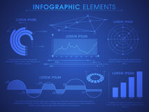 Set of statistical infographic elements. Royalty Free Stock Images