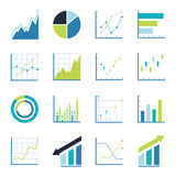 Set statistics icon. Royalty Free Stock Photos