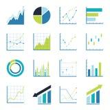 Set statistics icon. Royalty Free Stock Photos