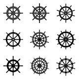 Set statku koła wektoru ikony zdjęcia royalty free