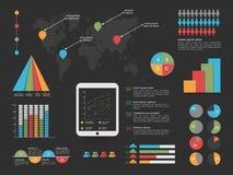 Set statystyczni infographic elementy dla biznesu Obrazy Stock