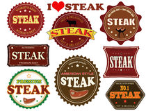 Set of steak labels royalty free illustration