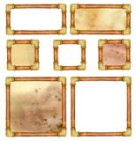 Set of steampunk frames with pipes and with and without backgrounds. Good for buttons or signs.