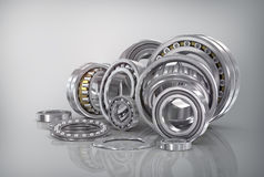 Set of steel ball bearings Stock Photos
