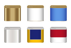 Set of a steel canned food box. A set of a steel canned food box Royalty Free Stock Images