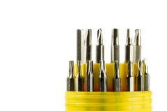 Set of steel screwdrivers Royalty Free Stock Photography