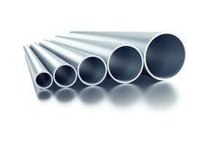 Set of steel tubing. 3d rendering Royalty Free Stock Photos