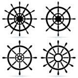 Set of steering wheels Stock Images