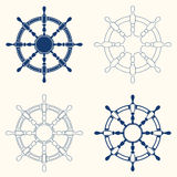 Set of 4 steering wheels Royalty Free Stock Photography