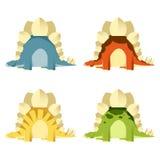 Set stegosaurs Zdjęcie Stock