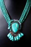 set sten för grön halsbandpärla Royaltyfria Foton