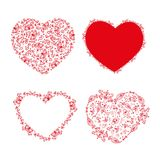 Set of stencil hearts for design Royalty Free Stock Images