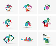 Set of step infographics business layouts Royalty Free Stock Photography