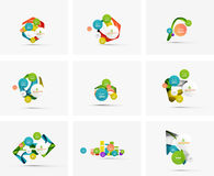 Set of step infographics business layouts Stock Image