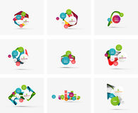 Set of step infographics business layouts Royalty Free Stock Photos