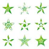 Set Sterne Stockfoto