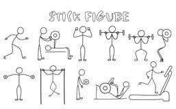 Set of stick figure sportsmans.