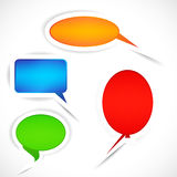 Set of sticker bubbles for speech. Royalty Free Stock Images