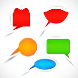 Set of sticker bubbles for speech. Royalty Free Stock Photography
