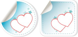 Set of sticker love hearts. valentines day Royalty Free Stock Images
