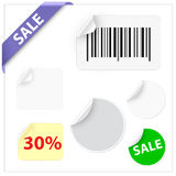 Set of stickers Royalty Free Stock Photo