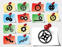 Set stickers - 142_S. Gears Royalty Free Stock Photos