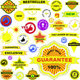Set of stickers Royalty Free Stock Images
