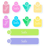Set  stickers Royalty Free Stock Photography