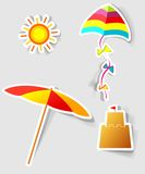 Set of  stickers. A set of design elements to advertise travel services Stock Photo