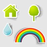 Set of  stickers Royalty Free Stock Photography