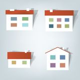 Set of  stickers. A set of elements design for advertising real estate services Royalty Free Stock Photography
