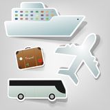 Set of  stickers. A set of design elements to advertise travel services Royalty Free Stock Image