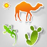 Set of  stickers Stock Image