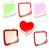 Set of stickers Stock Photography
