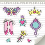 Set of stickers Royalty Free Stock Photos