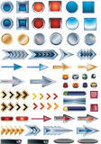 Set of stickers. Set of various colorful stickers Royalty Free Stock Photo