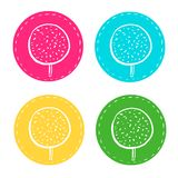 Set of stickers for baking, royalty free illustration