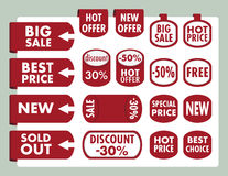 Set of stickers and banners Royalty Free Stock Photos