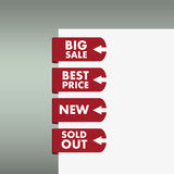 Set of stickers and banners Royalty Free Stock Image