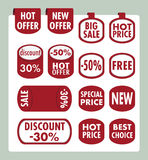 Set of stickers and banners Stock Image