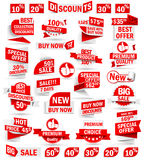 Set of stickers and banners Royalty Free Stock Photo