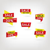 Set of stickers and banners. Sale royalty free illustration