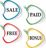 Set of stickers for best sales Royalty Free Stock Photo