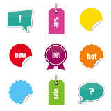 Set of stickers, bubbles and tags stock illustration