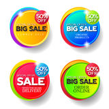 Set of stickers for business. Royalty Free Stock Photo